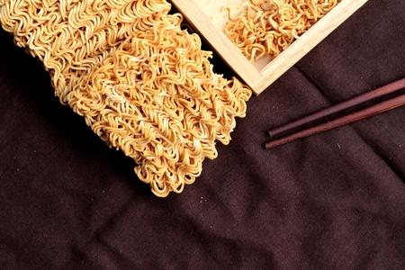 instant ramen: Dry instant noodle - asian ramen