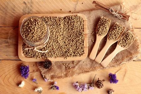 cilantro: Semillas de cilantro seco