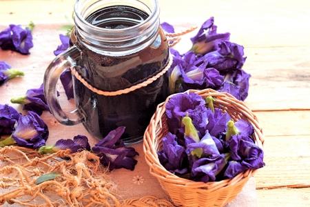 pea shrub: Anchan flowering water and fresh anchan flowers purple
