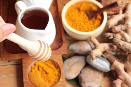 par�?s: Phlai herb, Cassumunar ginger both fresh and as a powder for the skin scrub