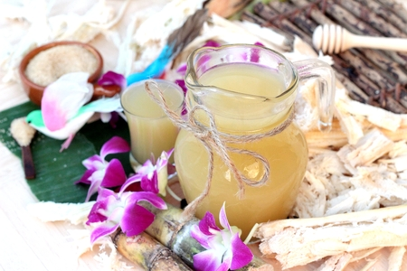 treacle: Juice of fresh sugar cane for drinks and sugar