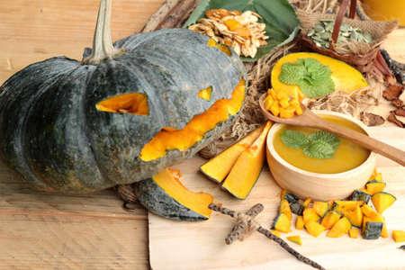 calabazas de halloween: Halloween pumpkins and pumpkin soup