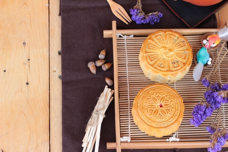 Festival moon cake   - china dessert Stock Photo - 45753997