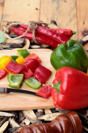 bell pepper: Sweet bell pepper fresh organic