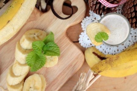 platano maduro: pl�tano maduro y pl�tano batido con leche