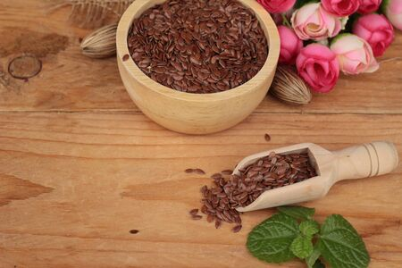 flax seeds: Flax seeds Stock Photo