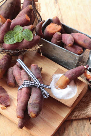 food plant: sweet potato boiled with of sugar delicious Stock Photo