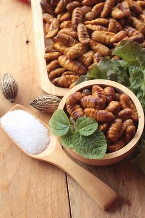 silkworm: Silkworm pupae