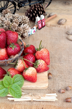 pastes: Fresh strawberries red at delicious Stock Photo