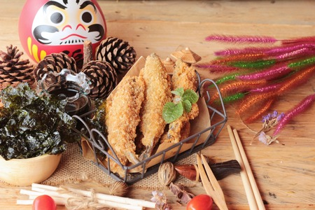 sause: shishamo fried with sause is a delicious