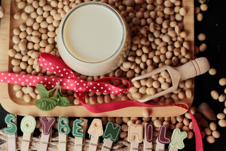 soymilk: Soy beans milk with beans
