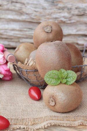 freshest: Kiwi fruite juicy is delicious Stock Photo