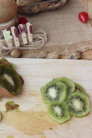juicy: Kiwi fruite juicy is delicious Stock Photo