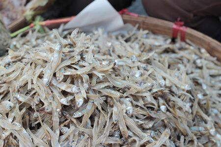 skat: dried fish for cooking in the market