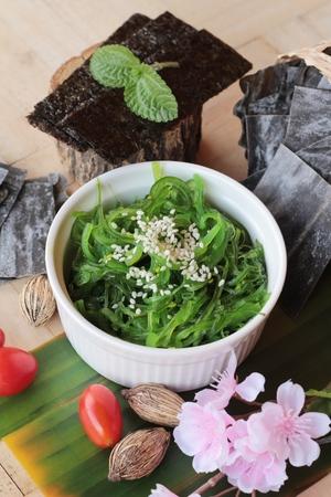 Seaweed salad is delicious and dries seaweed