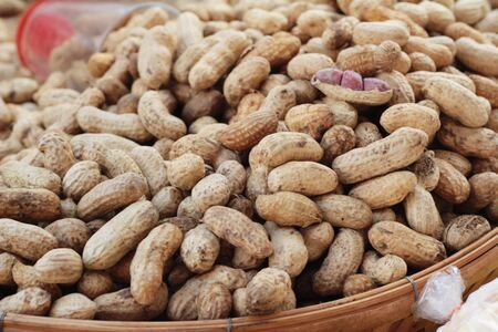 Boiled peanuts is delicious in the market Stock Photo