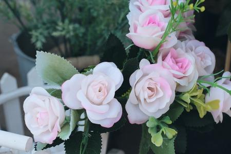 Beautiful artificial flowers Stock Photo