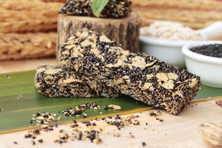 poppy seeds: Snack black sesame mix oatmeal for health