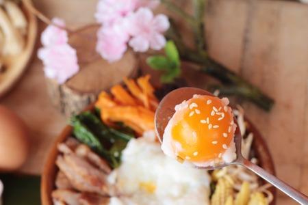 bean sprouts: Bibimbap korean food is delicious