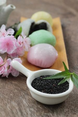 黒ゴマ大福餅和菓子