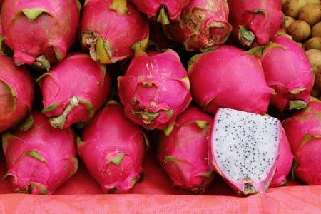 Fresh dragon fruit organic in the market