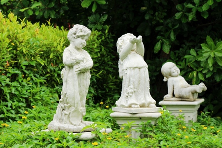 Decorative statue is beauty in the garden Stock Photo