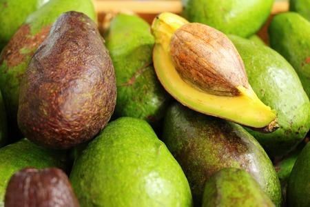 Fresh green avocado is delicious in market