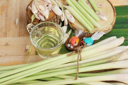 lemongrass tea: Lemongrass tea for health with fresh lemongrass Stock Photo