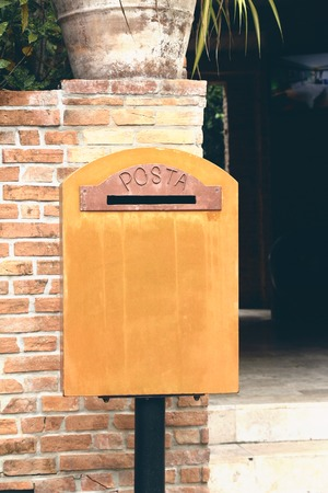 old envelope: Mail box vintage style with the nature Stock Photo