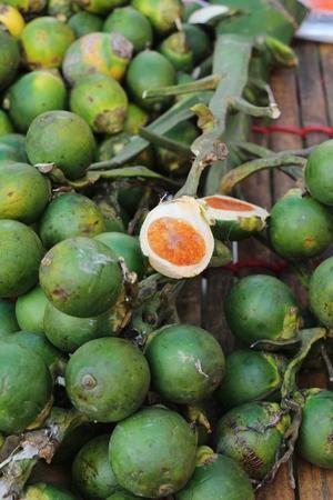 Betel nut palm in a bunch