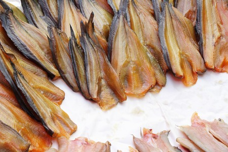 Dried fish for cooking in the market