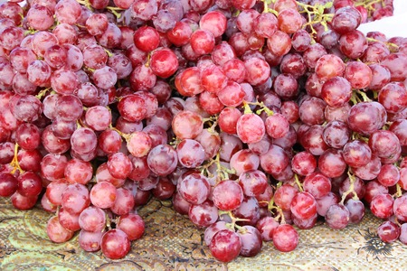 Fresh fruit grapes delicious at street food