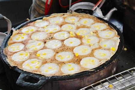 Coconut milk mix sugar and flour ,Thai dessert 版權商用圖片