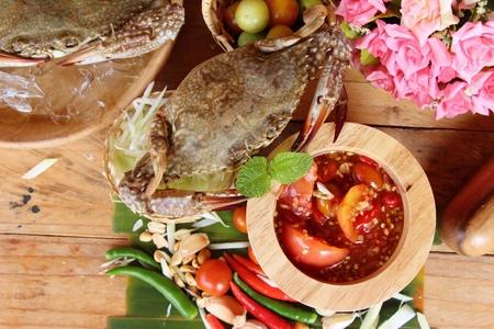 Spicy papaya salad with crab is delicious