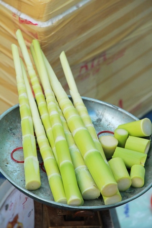 Sweet bamboo shoot for cooking at market Stock fotó - 98147096