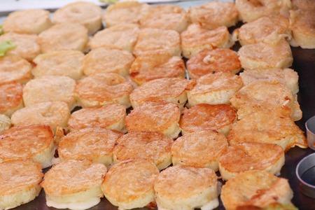 flour mix coconut and then fried ,Thai dessert 版權商用圖片