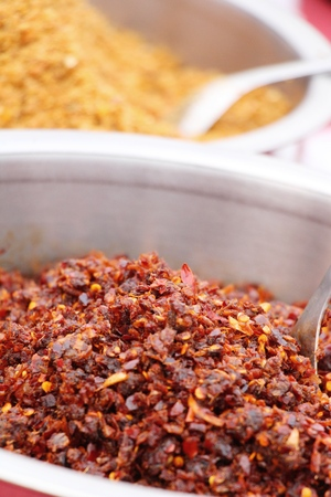 Chili paste spicy is delicious with spices Stock Photo