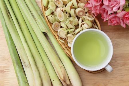 Lemongrass tea for health with fresh lemongrass Stock Photo