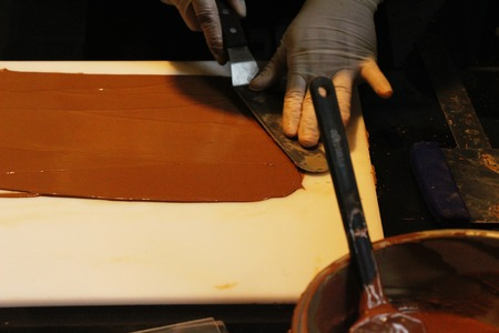 Making to chocolate at sweet is delicious