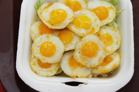 Quail eggs is delicious in street food