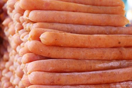 Chinese sausage (Gun-chiang) tasty in street food