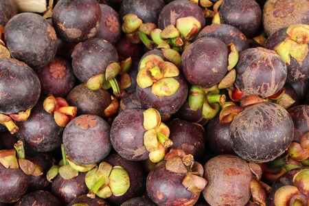 Mangosteen fruit is delicious at street food
