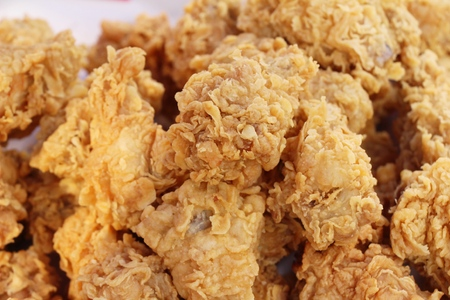 Fried chicken is delicious in street food Stockfoto