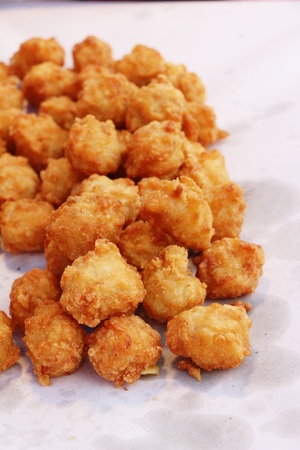 Fried chicken nuggets delicious at street food