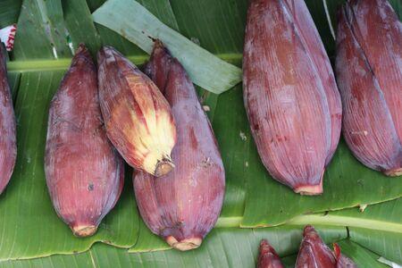 Banana blossom for cooking at street food market