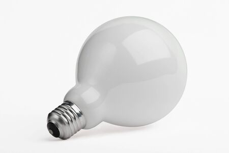 socle: Huge opaque lightbulb isolated on white background