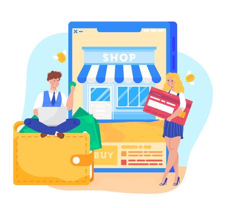 Banking business concept. Payment concept design cartoon vector illustration.