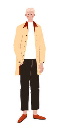 Office casual characters, business young worker, man trouser shirt suit, classic style flat style vector illustration.