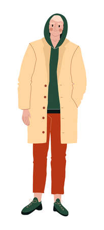 Office casual characters, business young worker, man trouser shirt suit, classic style, flat style vector illustration.