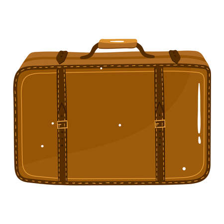 Travel suitcase isolated on white, design, flat style vector illustration.